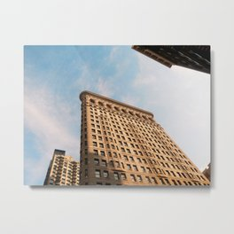 Looking up to the Flatiron Building | NYC Metal Print