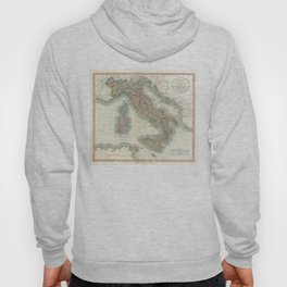 Vintage Map of Italy (1799) Hoody