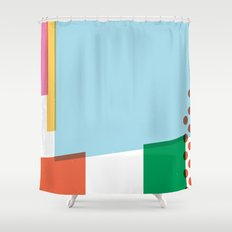 SECRET CYCLING FLAG - PANTANI Shower Curtain
