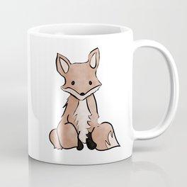 Cute Watercolor Fox Painting Coffee Mug