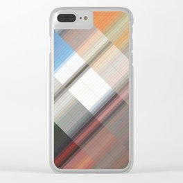 Innovation. Abstract gradient art geometric background with soft color tone, cell grid. Ideal for ar Clear iPhone Case