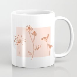 Wildflower Line Art Coffee Mug