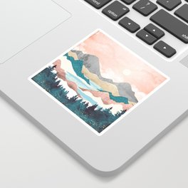 Lake Sunrise Sticker