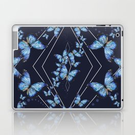 Insecta Pattern - Blue Morpho Laptop & iPad Skin