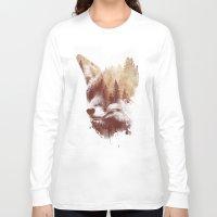 fox Long Sleeve T-shirts featuring Blind fox by Robert Farkas