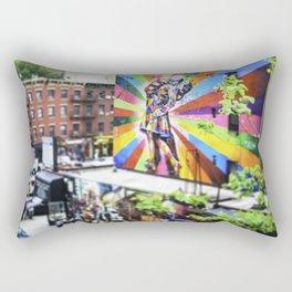 New York, The High Line 'Kiss' Rectangular Pillow