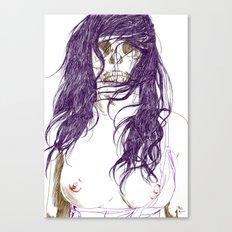 Give us a kiss (bw) Canvas Print