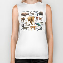 Wildlife of India Biker Tank