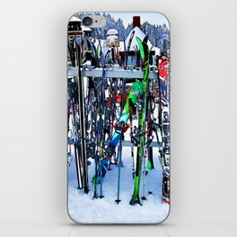 Ski Party - Skis and Poles iPhone Skin
