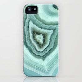 The world of gems - light blue agate iPhone Case