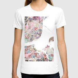Lisbon map T-shirt