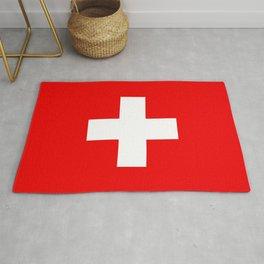 Swiss Flag of Switzerland Rug