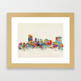 toledo ohio skyline Framed Art Print