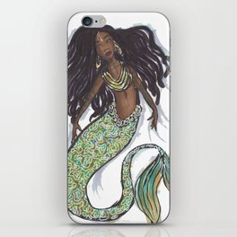 dreadlock mermaid iPhone Skin