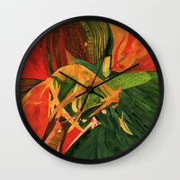 anxiety Wall Clocks featuring Anxiety by Nima