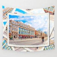 dublin Wall Tapestries featuring Brilliant Morning Sun On O'Connell Street In Dublin Ireland by Mark E Tisdale