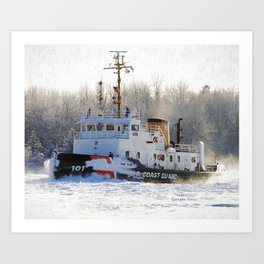 Katmai Bay Ice Breaker USCG Art Print