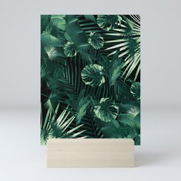 Tropical Jungle Leaves Night Siesta #1 #tropical #decor #art #society6 Mini Art Print