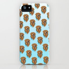 Golden Retriever Print iPhone Case