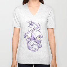 The Last Unicorn Unisex V-Neck
