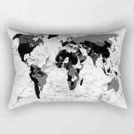 world map political marble Rectangular Pillow