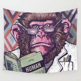 Ape Analyst Wall Tapestry