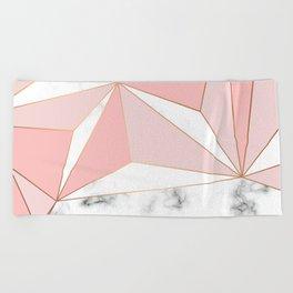 Marble & Geometry 042 Beach Towel