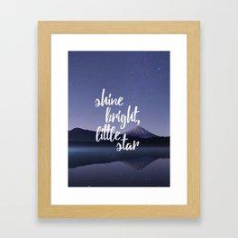 Shine Bright Little Star Night Sky Framed Art Print