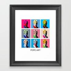 Pope art Framed Art Print