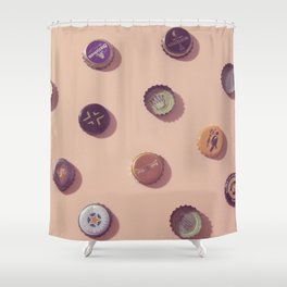 #01#Beercaps#vintage#collection Shower Curtain