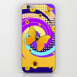 YELLOW BUTTERFLY PURPLE SPRING HAS SPRUNG iPhone Skin