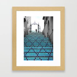 Mystery Man on the Blue Stairway to Heaven, Kansas City Framed Art Print