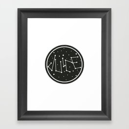 Juice Galaxy Framed Art Print