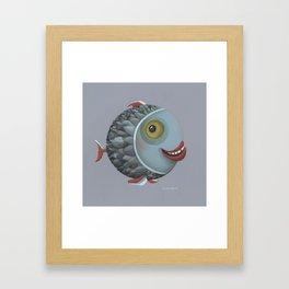 Pisces (grey) Framed Art Print