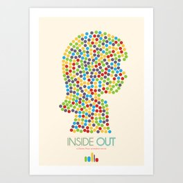 Inside Out minimal poster Art Print