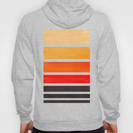 Orange Minimalist Watercolor Mid Century Staggered Stripes Rothko Color Block Geometric Art Hoody