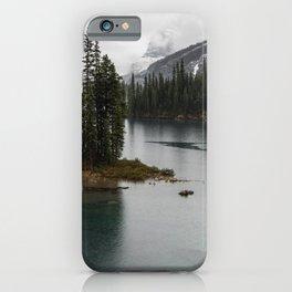 Landscape Photography Maligne Lake Island iPhone Case