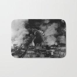 Old Time Godzilla San Francisco Fire Bath Mat