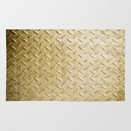 Gold Painted Metal Stylish Design Rug