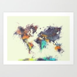 world map 106 #worldmap #map Art Print