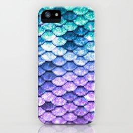 Mermaid Ombre Sparkle Teal Blue Purple iPhone Case
