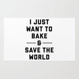 Bake & Save the World Rug