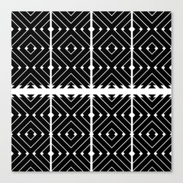 MONOCHROMA Geometrica : Black & White Box Pattern Canvas Print