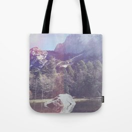 Faded Mountainside Tote Bag