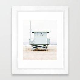 California Beach Tower Framed Art Print