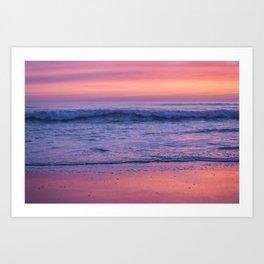 Beautiful California sunset Art Print