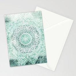 DEEP MINT MANDALA Stationery Cards