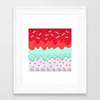cupcake Framed Art Prints featuring Cupcake by Kakel