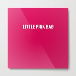 Little Pink Bag Metal Print