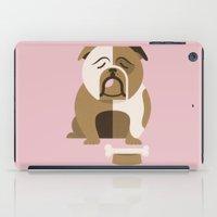 bulldog iPad Cases featuring Bulldog by Jude Landry